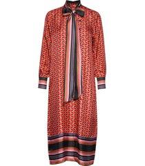tiles midi dress knälång klänning röd second female