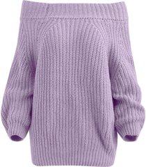 raglan sleeve bare shoulder sweater