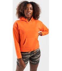 prestin active fleece hoodie - orange