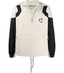off-white journey zipped sweatshirt - neutrals
