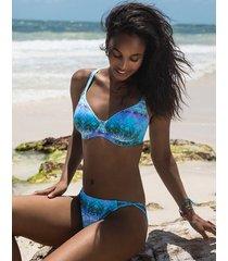 seascape underwire non padded plunge bikini top