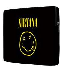 capa para notebook nirvana 15.6 à 17 polegadas com bolso