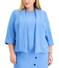 kasper plus size shawl-collar cuffed jacket