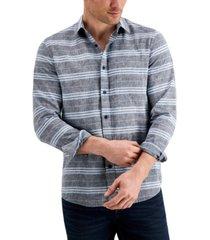 sun + stone men's horizontal stripe shirt, created for macy's