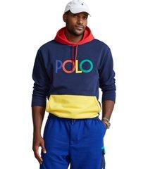 polo ralph lauren men's big & tall logo double-knit hoodie