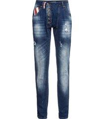 jeans boyfriend con bandiera (blu) - rainbow