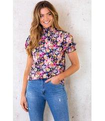 floral col top multicolor