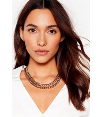 womens chain-ge our mind layered necklace - gold
