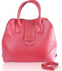 bolsa de mão campezzo couro vermelho