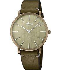 reloj 18783/3 minimalist verde lotus