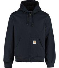 carhartt active hooded cotton jacket