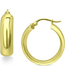 "giani bernini small chunky hoop earrings in 18k gold plated sterling silver, 3/4"", created for macy's"