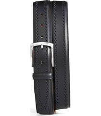 men's allen edmonds manistee brogue leather belt, size 44 - black
