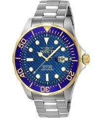 reloj invicta acero modelo 125rr para hombres, colección pro diver