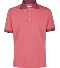 vivienne westwood pink cotton polo shirt