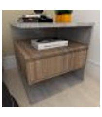 mesa de cabeceira moderna amadeirado escuro com rústico