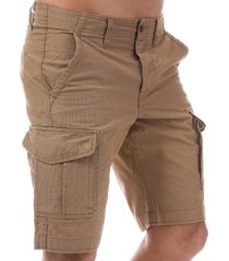 jack jones mens preston cargo shorts size m in cream