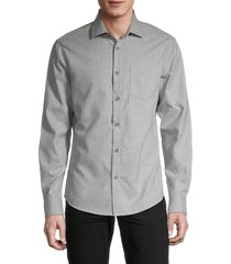 saks fifth avenue men's long-sleeve shirt - navy blue - size xxl