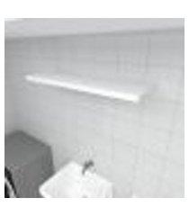 prateleira para lavanderia mdf suporte inivisivel cor branco 90(c)x30(p)cm modelo pratlvb19