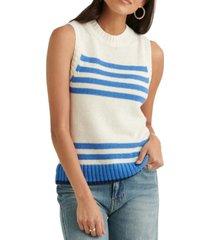 lucky brand striped sleeveless sweater
