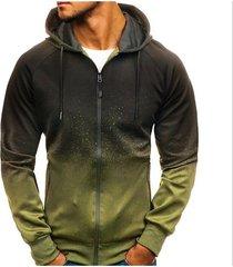 sudaderas con capucha para hombres moda casual algodón sudadera para-verde