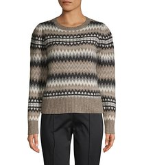 wool-blend chevron sweater