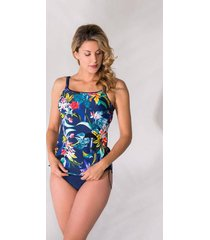 bomain ladies tankini bright flower -