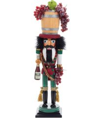 kurt adler 18.9-inch hollywood wine barrel hat nutcracker