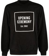 opening ceremony box logo regular crewneck sweatshirt
