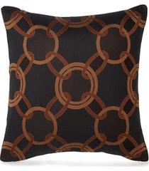 chains cushion - black/chestnut