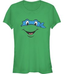 fifth sun teenage mutant ninja turtles women's leonardo big face costume short sleeve tee shirt