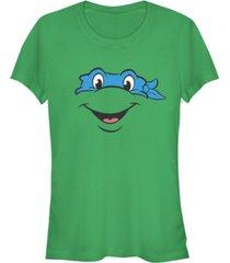 fifth sun teenage mutant ninja turtles women's leonardo big face costume short sleeve tee shirt