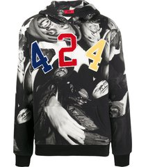 424 x wu tang photo-print hoodie - black