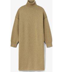 proenza schouler white label cashmere blend turtleneck dress putty/black/neutrals l