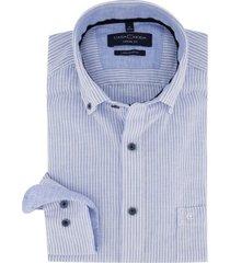 casa moda overhemd blauw wit gestreept