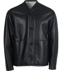combat shearling and leather jacket