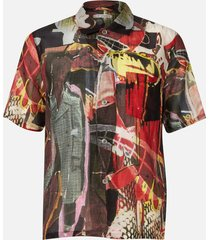 our legacy men's box shirt - peace crowd - xl
