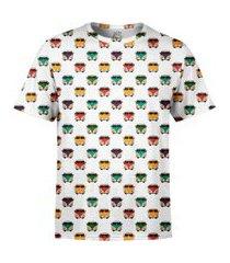camiseta estampada over fame kombis branca
