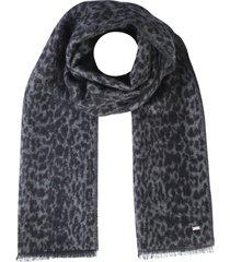 saint laurent etole leopard scarf