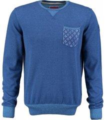 bluefields blauwe trui katoen