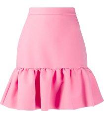 msgm high-rise peplum mini skirt - pink