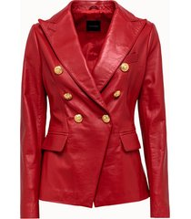 tagliatore giacca lizzie in pelle rossa