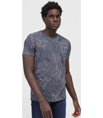 camiseta aleatory floral grafite - grafite - masculino - algodã£o - dafiti