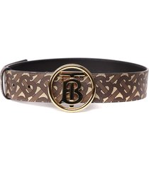 burberry belt with monogram print