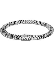 classic chain' sterling silver woven chain bracelet