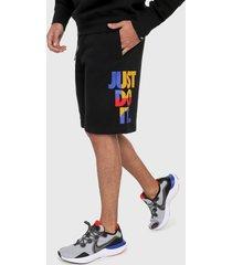 pantaloneta negro-multicolor nike sportswear  jdi
