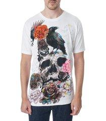 robert graham men's byrd classic-fit graphic t-shirt - white - size l
