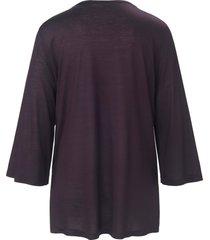 pyjama met wijde 3/4-mouwen en v-hals van fürstenberg paars