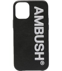 ambush logo-embossed iphone 12 mini case - black