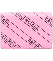 balenciaga everyday mini wallet - pink
